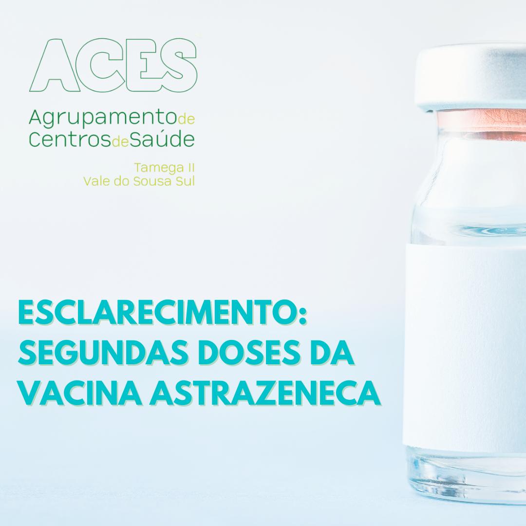 ESCLARECIMENTO Segundas Doses da vacina AstraZeneca